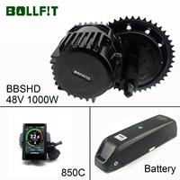 Bollfit  Bafang BBSHD M615 16Ah Battery 1000 Watt Mid Drive Moter Kit  Electric Bicycle Ebike Conversion Kit