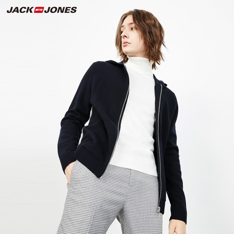 JackJones Men's Woolen Sweater Cardigan Pullover Top Menswear Basic 218425509