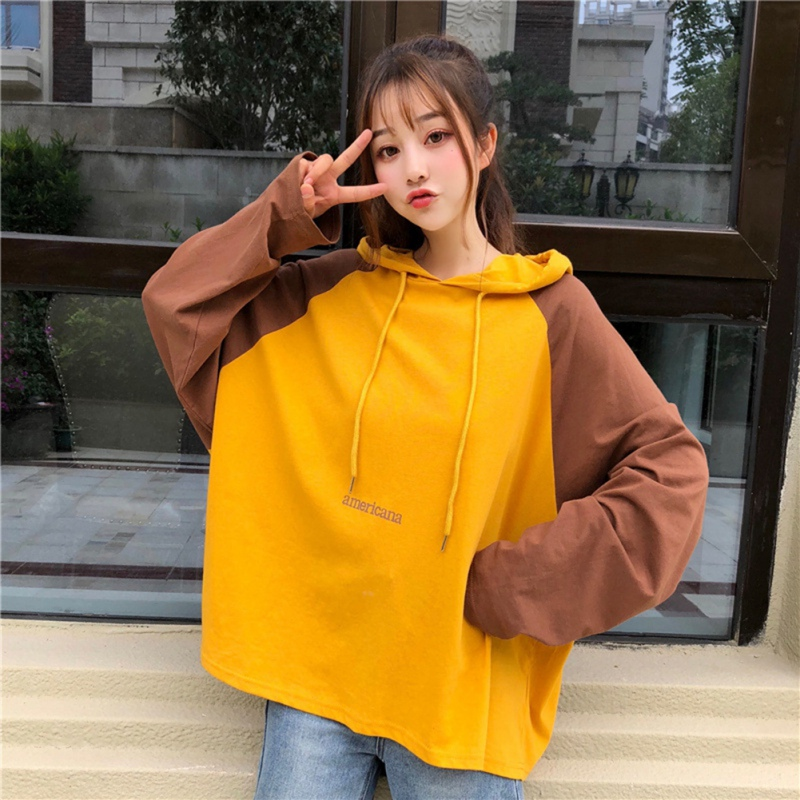 >Long Sleeve Clothes <font><b>Autumn</b></font> Women <font><b>Clothing</b></font> <font><b>Matching</b></font> Drawstring PulloverGraphic Hooded