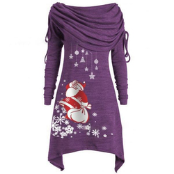 Long Sleeve Casual Print Dress Women Nightmare Before Christmas Dress Plus Size S-5XL Womens Clothing 2019 SJ4626V 4