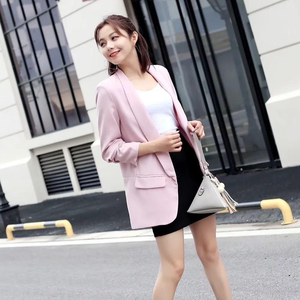 Fashion Women Blazer Feminino Autumn New Suit Long Sleeve V-neck Women Clothes Blaser Feminino Bleizer Mujer 2019 Korean Style