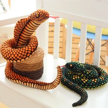 Peluche Cobra et Python en peluche, serpent en peluche, poupées zodiaque en peluche douce et amusant, cadeau de fête pour enfants, 1 pièce