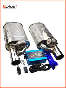Vacuum-Valve-Control Silencer Exhaust-Pipe-Kit Universal EPLUS Stainless Variable 51