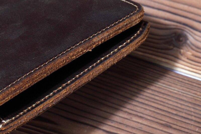 de moeda vintage carteira de couro de cavalo louco para homem
