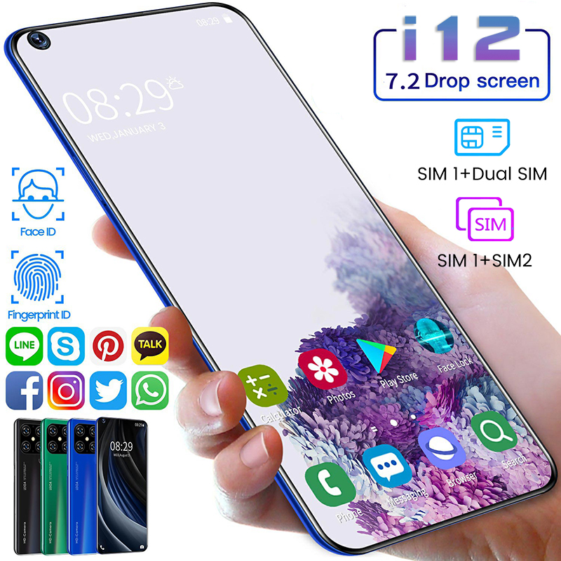 2020 New i12 10 core 8 + 256G Dual Card Dual Standby 7.2 inch Full screen Ultrabook Mobile Phone 4G Network 100% Original|Phone Screen Protectors|   - AliExpress