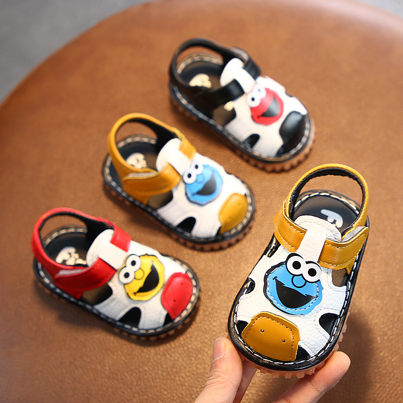 2020 Summer Soft Bottom Non-Slip Children's Sandals Baby Boys Girls Leather Clogs Baby First Walkers Toddler Shoes