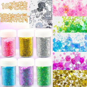 10G Holographic Nail Glitter Powder Shining Silver Gold Nail Fine Glitter Dust Nail Art pigment powder for Art Decorations DIY 1box mirror nail powder rose gold champagne silver metal effect glitter nail powder nail glitter dust decoration