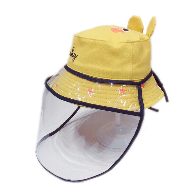 Baby Anti-Droplet Saliva shield face cover protective shield Hat Mask Safety baby Face Protection Mask UV Protection Sun Hat 5