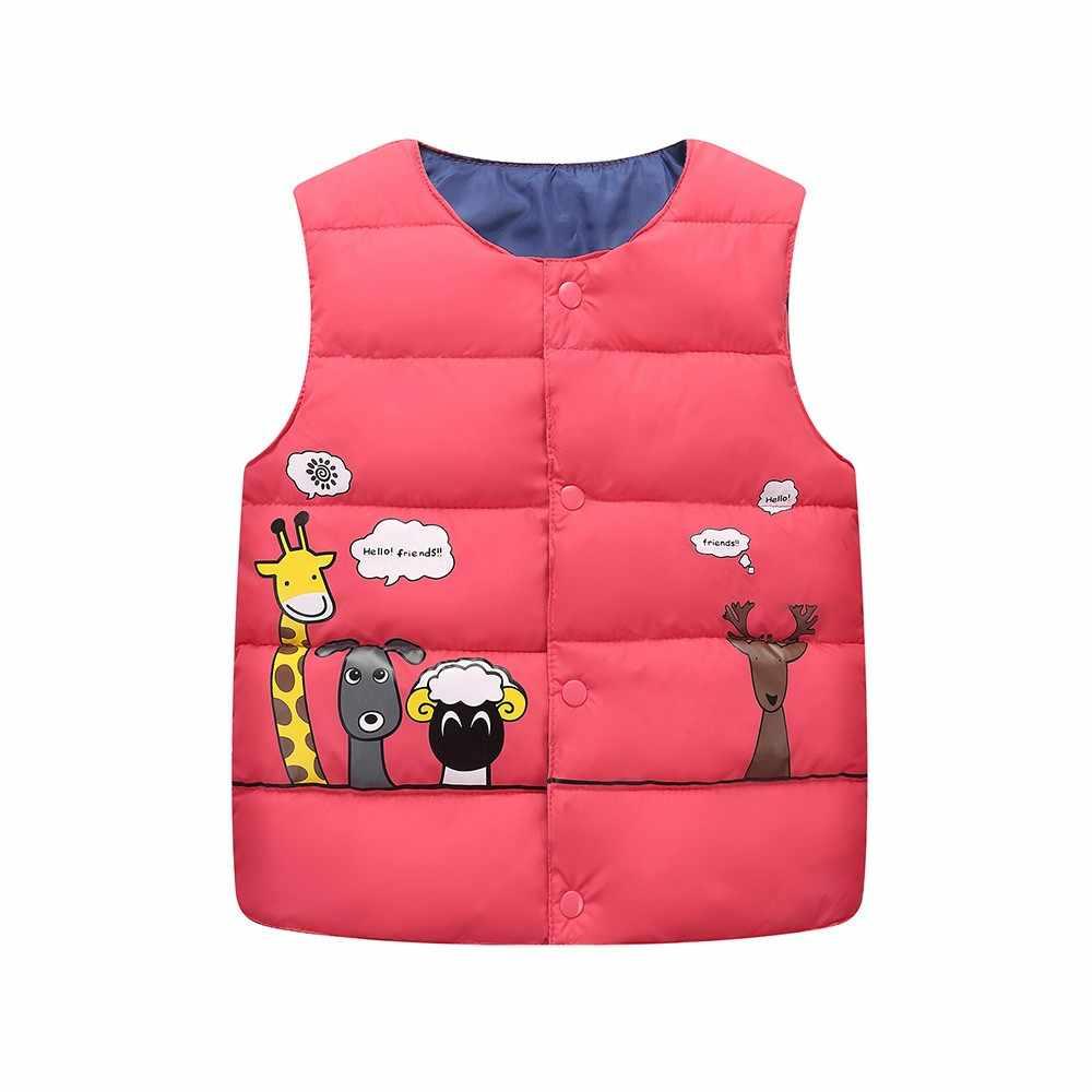 Niños bebés niñas niño sin mangas Animal Print Warm Jacket chaleco para niña niños chaleco para niños chaleco chica