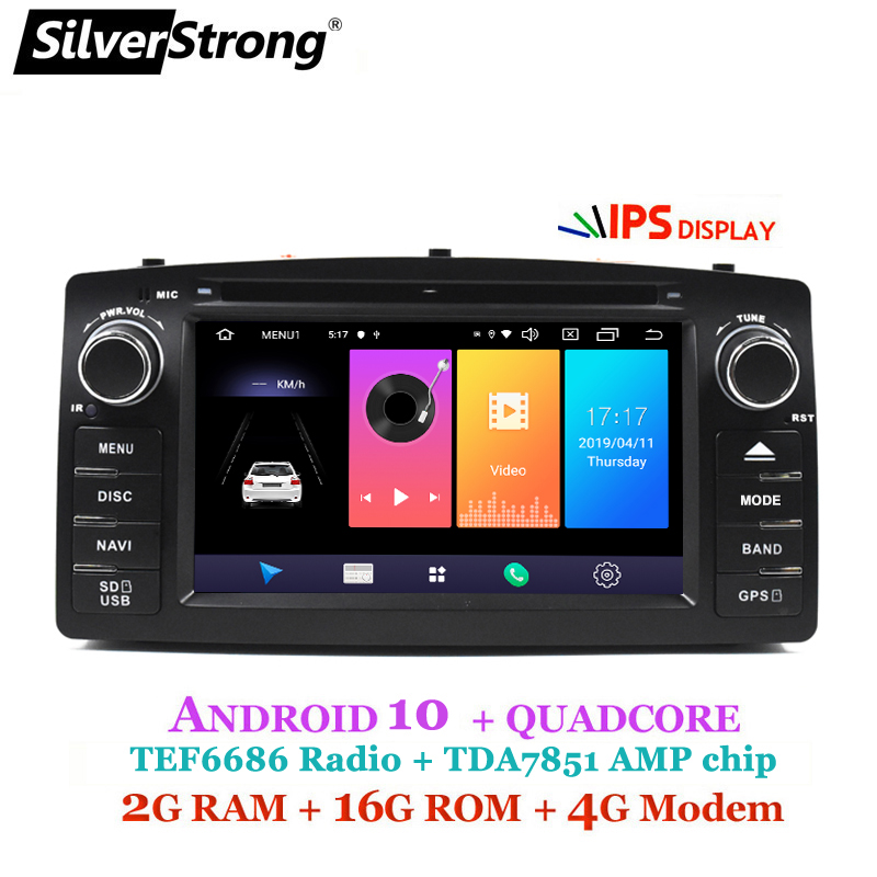 SilverStrong Android10 Car 2Din 4G For <font><b>Toyota</b></font> <font><b>Corolla</b></font> E120 Universal for <font><b>TOYOTA</b></font> Auto <font><b>Radio</b></font> car player image