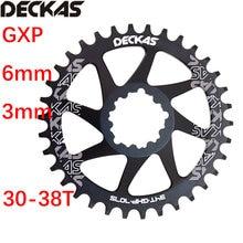 Deckas redonda chainring 6mm 3mm offset montagem direta para sram gxp xx1 eagle x01 x1 x0 x9 32t 34t 36 38 mtb bicicleta de estrada 6mm