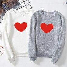 Fashion Women men Lover Heart shirt Long Sleeve T-shirt Boy and Girl Friend party outwear Couple shirts S-XXXL