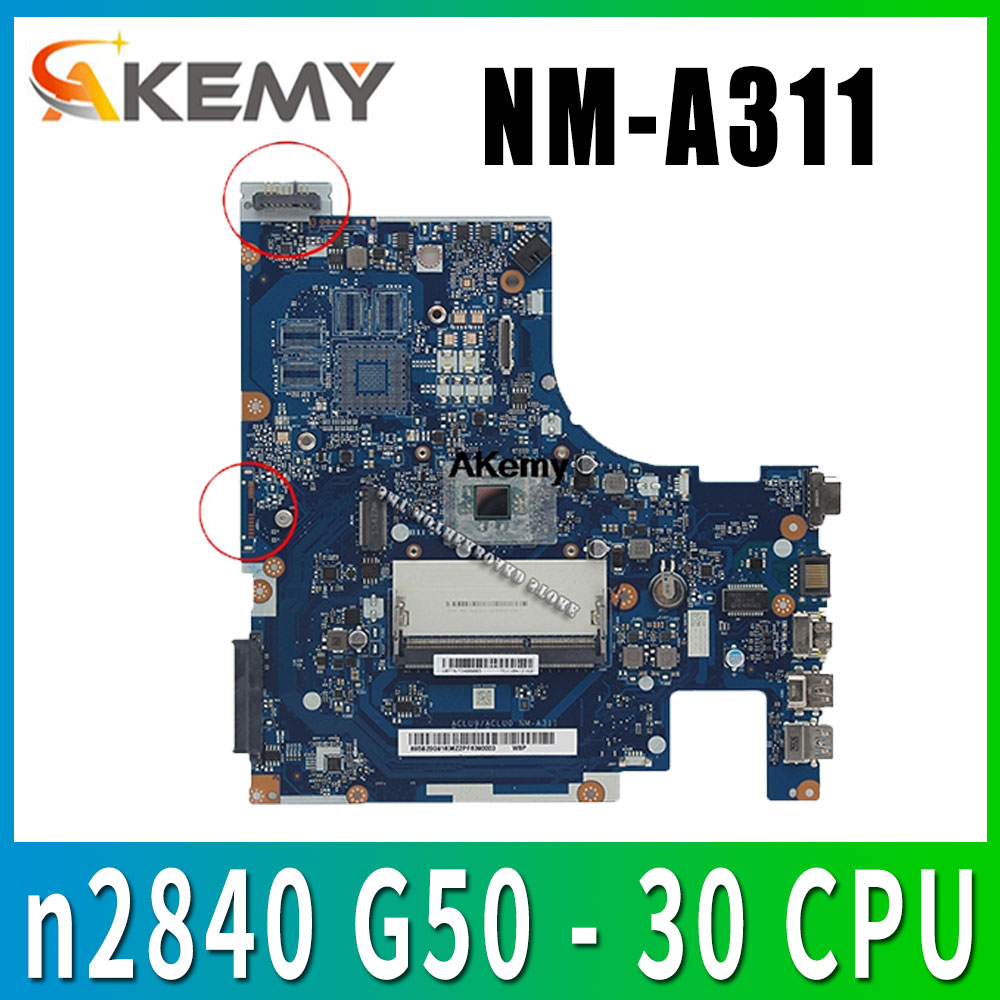 Brand New aclu9 / <font><b>NM</b></font> - aclu0 <font><b>A311</b></font> laptop Motherboard Lenovo Laptop with n2840 G50 - 30 CPU (Intel CPU 100% test) image