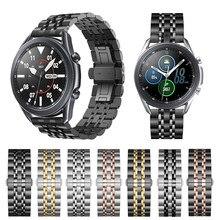 Металлический ремешок для Samsung Galaxy Watch 3 45 мм 41 мм из нержавеющей стали для Samsung Galaxy Watch 3 41 мм 45 мм с пряжкой-бабочкой