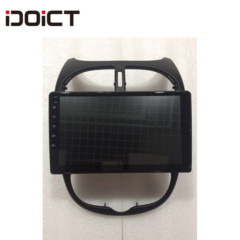 IDOICT Android 8.1 2.5D Car DVD Player GPS Navigation Multimedia For <font><b>peugeot</b></font> <font><b>206</b></font> Radio 2004-2008 image