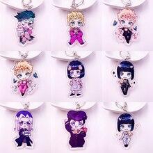 Anime Jojos Bizarre aventure porte-clés acrylique deux faces Figure Kujo Jotaro Kira Yoshikage césar porte-clés Collection cadeau