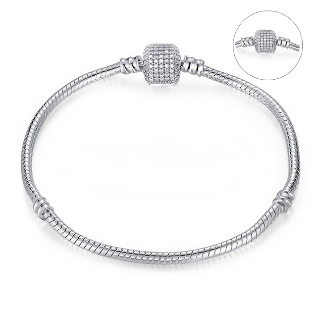 CHIELOYS High Quality Authentic Silver Color Snake Chain Fine Bracelet 5