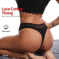 Women's panties sexy underwear thong female lingerie for women G-string cotton briefs plus size underpanties seamless panties