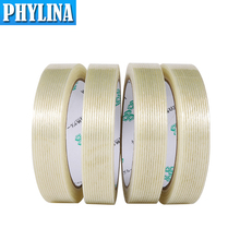 Strong Glass Fiber Tape For Fixed Wrapping Winding Transparent Striped Single Side Adhesive Industrial Strapping Packaging Seal