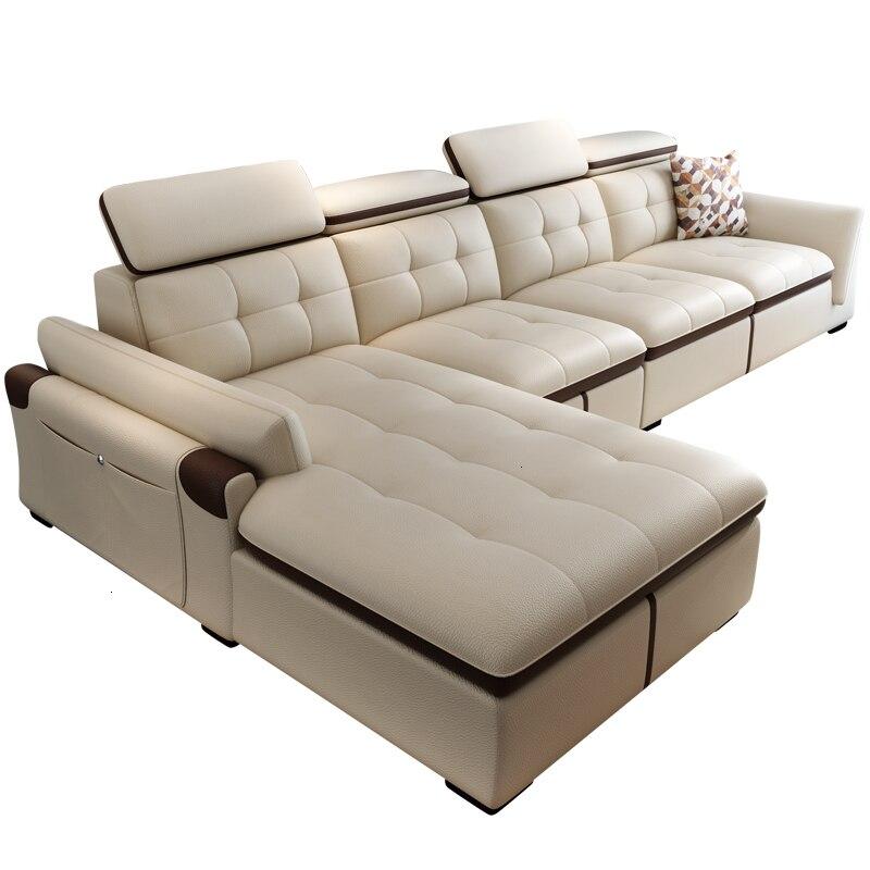 Maison Pouf Moderne Couch Zitzak Para Meble Do Salonu Puff Asiento Meubel Leather Mueble De Sala Set Living Room Furniture Sofa