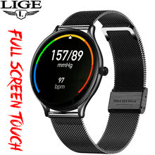 Lige Новые смарт часы для мужчин фитнес трекер Мониторинг сна