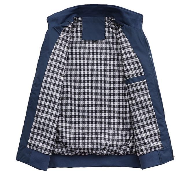 2021 Spring Autumn Casual Solid Fashion Slim Bomber Jacket Men Overcoat New Arrival Baseball Jackets Men's Jacket M-6XL Top 6