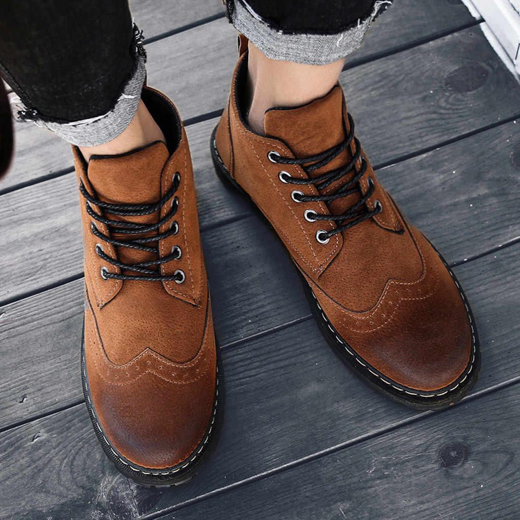 Retro Brogue Chelsea Stiefel Herren Schuhe Stiefeletten Schuhe Peeling Chelsea Stiefel Für Männer Hohe Qualität Winter Baumwolle Schuhe