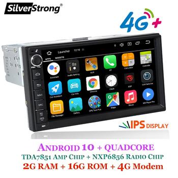 SilverStrong 2Din 4G Modem uniwersalny 7 cal Android9 0-10 radia samochodowego DVD dla LADA GRANTA 1Din ciała z systemem Android nawigacja GPS tanie i dobre opinie ABS+STEEL 1024*600 Tuner radiowy Front panel 178x100mm 7071M3 W desce rozdzielczej Rosyjski 4*45W 87 5-108MHZ(FM range)