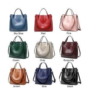 Image 3 - Kadın rahat çanta kadın Tote omuz çantası PU deri bayanlar kova çanta Messenger çanta yumuşak küçük alışveriş Crossbody çanta