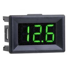 Цифровой вольтметр цифровой Вольтметр 0,36 дюйма Три провода DC 0-100 в отображение напряжения на светодиодном дисплее водонепроницаемый цифровой амперметр