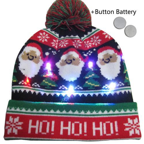 Г., 43 дизайна, светодиодный Рождественский головной убор, Шапка-бини, Рождественский Санта-светильник, вязаная шапка для детей и взрослых, для рождественской вечеринки - Цвет: 29