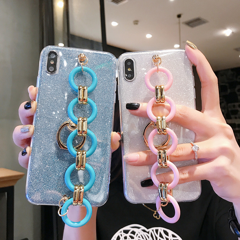 Fashion Ultra-thin <font><b>Diamond</b></font> Luxury Bracelet Lanyard Phone <font><b>Case</b></font> For <font><b>HuaWei</b></font> Mate 20 <font><b>P20</b></font> P30 Lite Pro Plus Nova 3E 4E <font><b>Case</b></font> Cover image