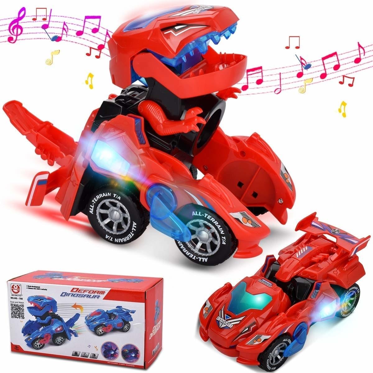 Transforming Dinosaur LED CarT-Rex Toys With Light SoundElectric toyHOT