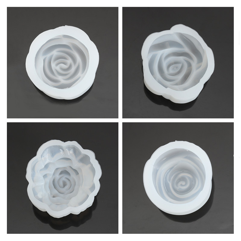 Doreen Box New Creative Silicone Resin Jewelry Tools Flower Rose White DIY Fashion Jewelry For Gift 6.2cm/6.3cm/6.4cm , 1 Piece