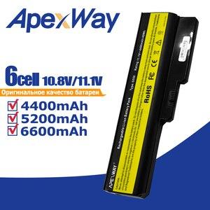 Image 1 - Apexway 노트북 배터리 레노버 L08L6Y02 a3000 L08S6C02 LO806D01 L08L6C02 L08N6Y02 G430 G450 G455A G530 G550 G555 L08O6C02