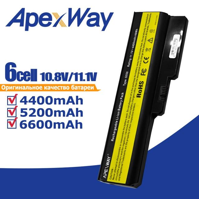 Apexway 노트북 배터리 레노버 L08L6Y02 a3000 L08S6C02 LO806D01 L08L6C02 L08N6Y02 G430 G450 G455A G530 G550 G555 L08O6C02