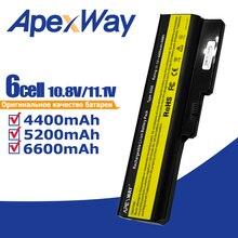 Apexwayแบตเตอรี่แล็ปท็อปสำหรับLENOVO L08L6Y02 A3000 L08S6C02 LO806D01 L08L6C02 L08N6Y02 G430 G450 G455A G530 G550 G555 L08O6C02
