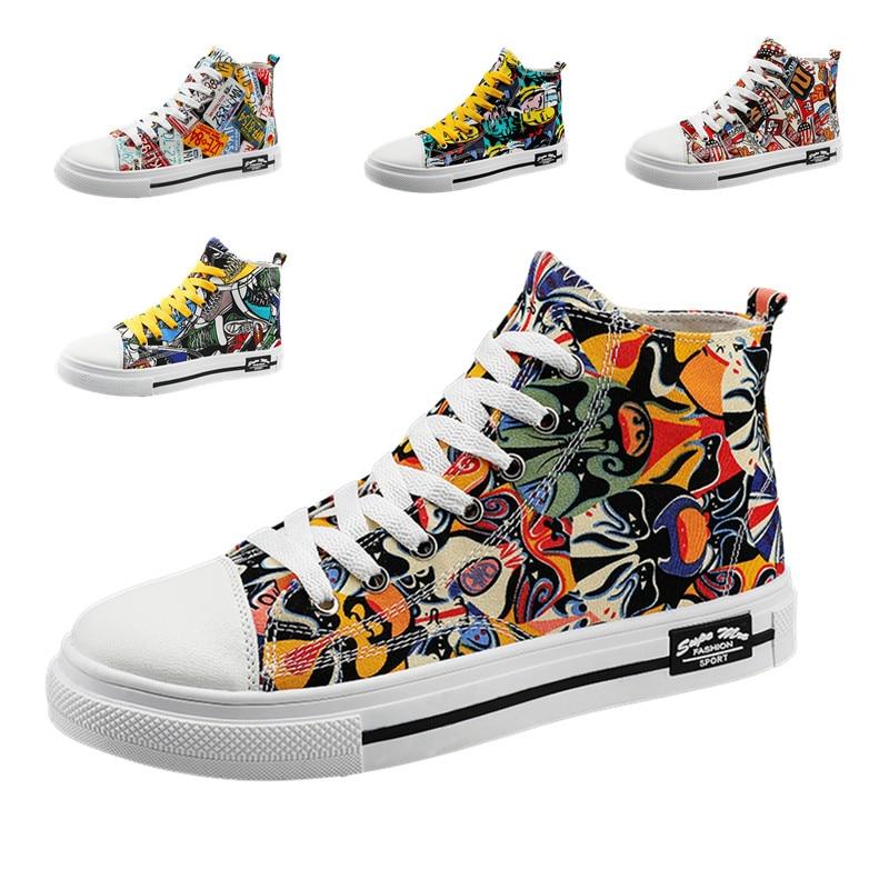 Unisex graffiti canvas shoes Chinese