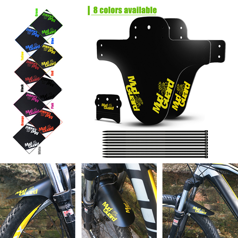 2019 Bike Fenders 2pcs Ultralight Front Bicycle Mudguard And Rear Bicycle Wings Lightest Mud Guard For MTB Road Bike Accessories