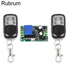Rubrum 433MHz שלט רחוק AC 220V 1CH RF ממסר מקלט מודול RF מתג 4 כפתור שלט רחוק שער מוסך פותחן