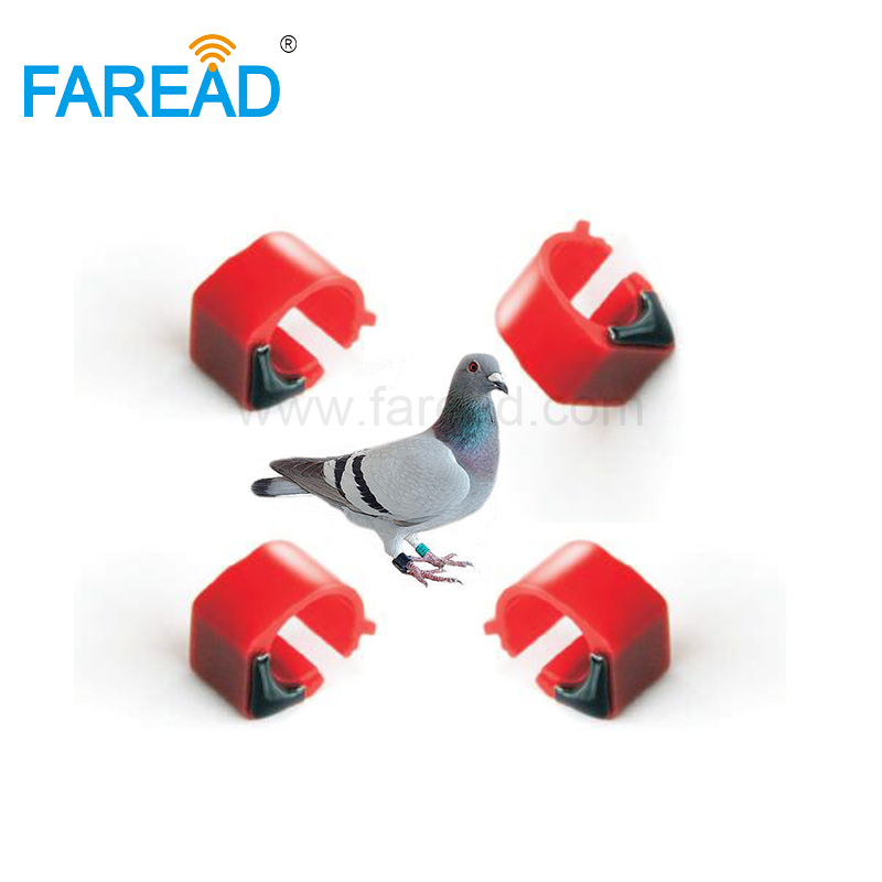 X100pcs 9mm ABS EMID 125KHz Chip Tag Passive RFID Pigeon Foot Ring For Animal ID Tracking