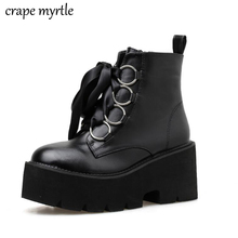 Купить с кэшбэком winter girl boots waterproof women boots cowboy shoes Motorcycle western ankle boot Punk Warm Shoes Women Footwears YMA931