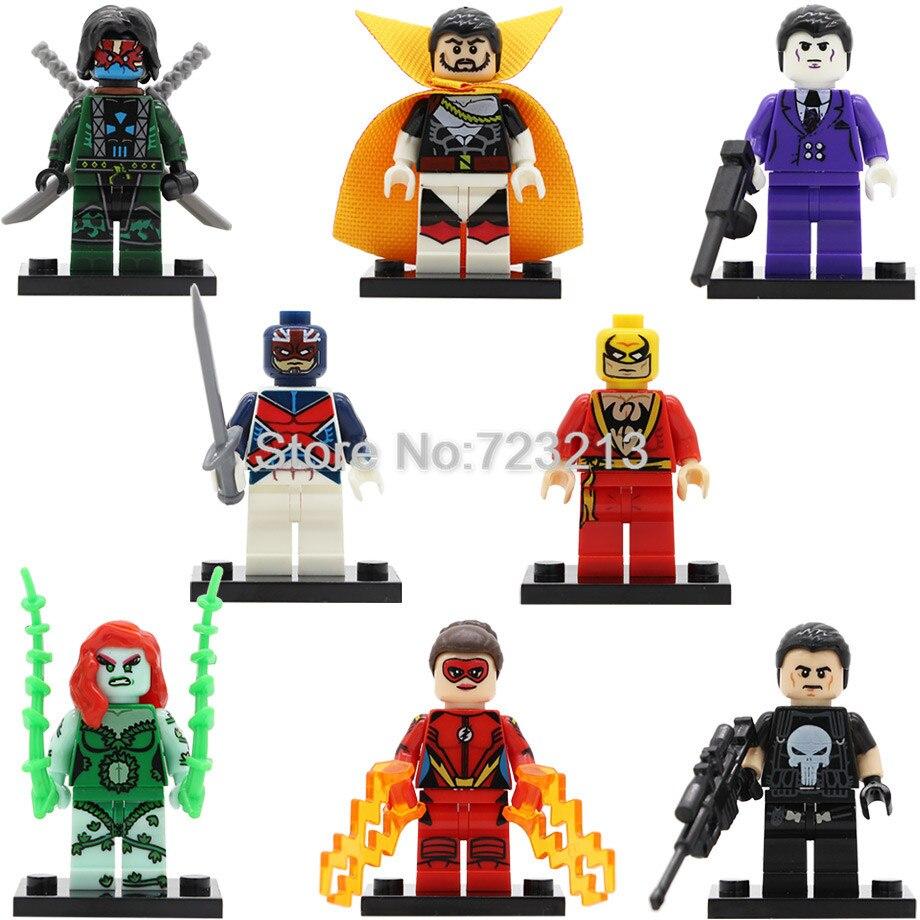 Super Hero Jesse Chambers Figure Count Nefari Ghost Maker Iron Fist Captain Britain Purple Man Building Blocks Toys Legoing