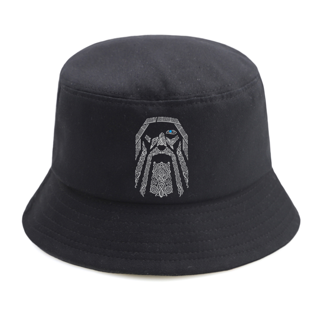 The Vkings Sunscreen Mans Bucket Hat Outdoor Ladies Fishing Hats Summer Hip Hop Beach Sun Caps Streetwear Black Bob Chapeau image