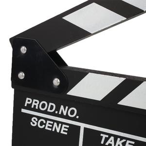 Image 5 - Film TV Show Cut Action Wooden Movie Clapboard Theater Party Oscar Decoration Movie Clapper Board Photo Studio Film Making Prop