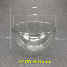 4 zoll Überwachung Kamera Schutzhülle Ball Abdeckung Wasserdichte Klar Regendicht Acryl PC Explosion proof Hemisphäre Shell 108X55mm