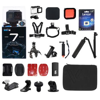 Oryginalny GoPro HERO 7 czarna kamera akcji 4K 60fps 1080P 240fps wideo Go Pro sport Hero7 czarny kask Cam z przekaz na żywo tanie i dobre opinie SONY IMX277 GP1 Chip O 12MP 1220 mAh 1 2 3 cali Rowerów Profesjonalne Pół-profesjonalny Odkryty sport działania Sporty ekstremalne