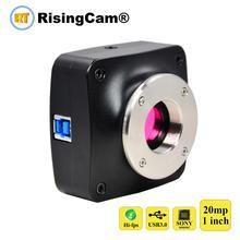 20MP 60fpsソニーIMX183 1 インチセンサーUSB3.0 カラーデジタル顕微鏡カメラ