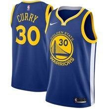 Мужская футболка golden state Stephen Curry Blue warriors