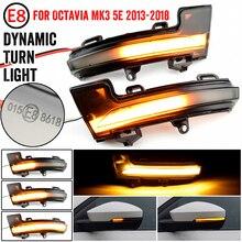 For Skoda Octavia Mk3 A7 5E 2013 2014 2015 2016 2017 2018 2019 Rearview Mirror Blinker Indicator LED Dynamic Turn Signal Light